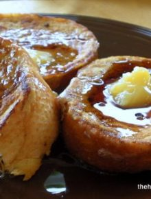Pumpkin French Toast with Orange Honey Butter