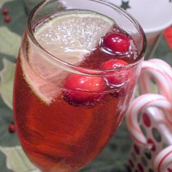 Cranberry-Lime Champagne Cocktail