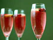 Cranberry-Lime Champagne Cocktail recipe - with only 3 ingredients, this super-simple champagne cocktail is perfect for the holidays.