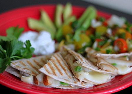 Pear and brie quesadillas   Kitchen Treaty