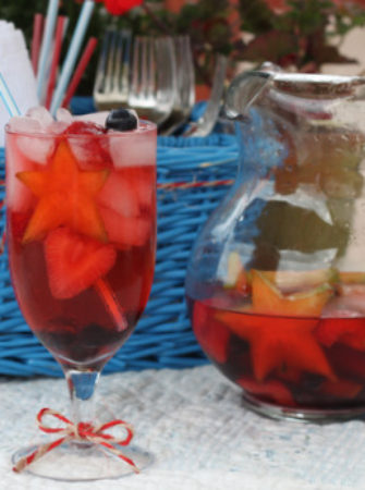 Fourth of July Sangria | Kitchen Treaty