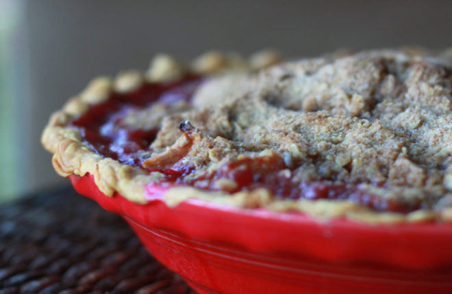 Apple Cranberry Crumble Pie | Kitchen Treaty