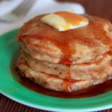 Applesauce Pancakes with Apple Cider Syrup | Kitchen Treaty
