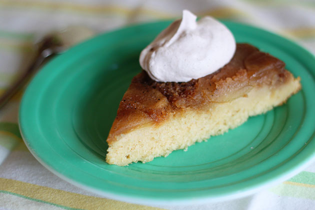 Caramel Apple Upside Down Cake with Cinnamon Whipped Cream - Kitchen ...