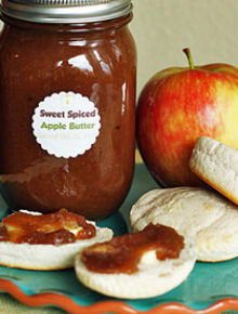 Sweet Spiced Crock Pot Apple Butter | Kitchen Treaty