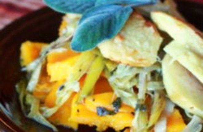 Apple, Butternut Squash & Leek Gratin | Kitchen Treaty