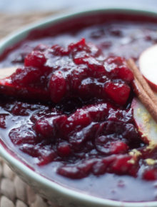 Spiced Apple Cranberry Sauce recipe