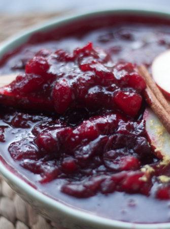 Spiced Apple Cranberry Sauce recipe
