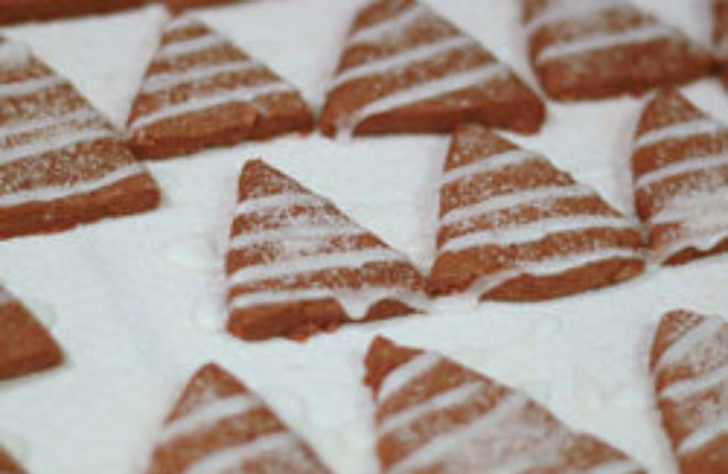 Gingerbread Trees With Lemon Icing Recipe — Dishmaps