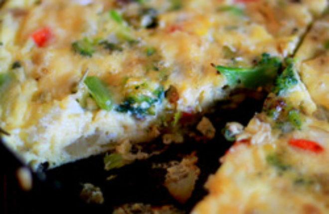 Leftover Crudite Frittata | Kitchen Treaty