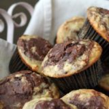 Chocolate banana marble muffins | Kitchen Treaty