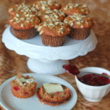 Leftover Cranberry Sauce Muffins
