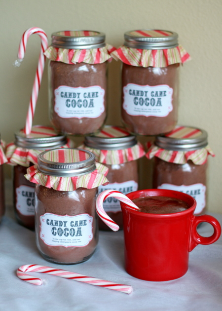 homemade candy cane hot cocoa mix