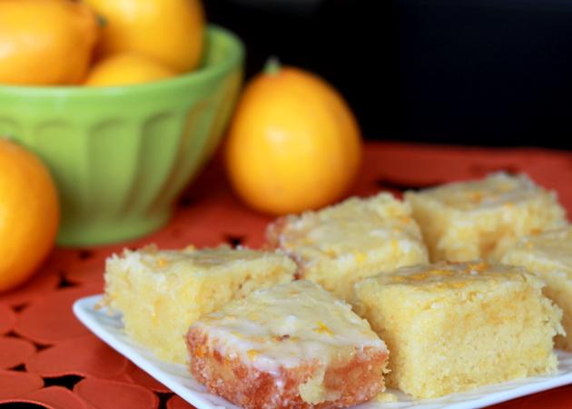 Meyer Lemon Cake Bars recipe - Tart, moist, and buttery-rich ...