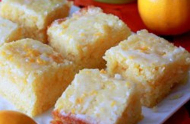 Meyer Lemon Cake Bars