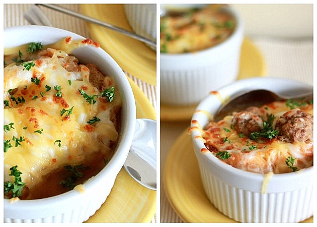 French Onion Soup - Vegetarian and Meat Variations