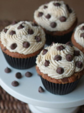 Chocolate Chip Cookie Cupcakes | Kitchen Treaty