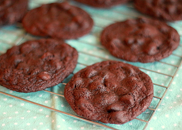 Espresso Double Chocolate Chip Cookies - Kitchen Treaty