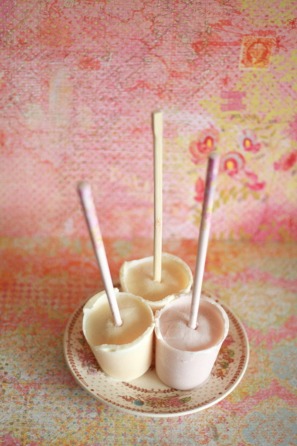 ONE ingredient! Poke a chopstick through the foil lid of a kid-sized yogurt, freeze, and voila! Delicious, healthy, and easy frozen yogurt pops - the simplest frozen yogurt pop recipe ever.