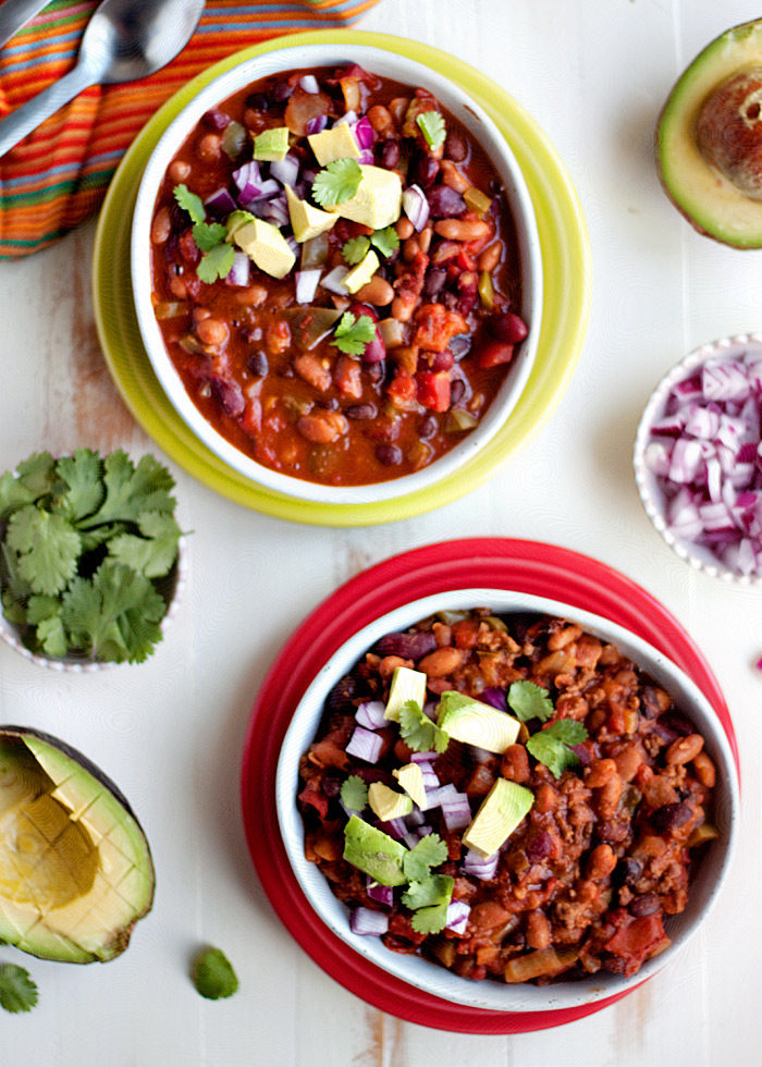 Slow Cooker Easy 3 Bean Chili With Optional Ground Beef Kitchen