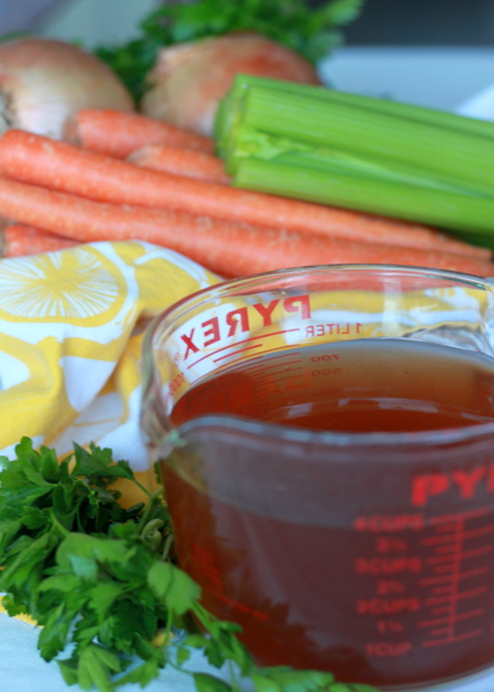 ... and Freeze!) Easy Vegetable Broth from Veggie Scraps | Kitchen Treaty