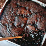 Deep dark hot fudge pudding cake | Kitchen Treaty