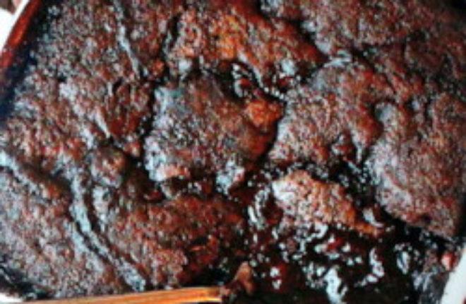 Deep dark hot fudge pudding cake | Kitchen Treaty