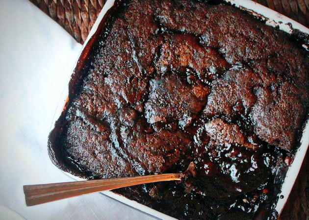 Deep Dark Hot Fudge Pudding Cake - Kitchen Treaty