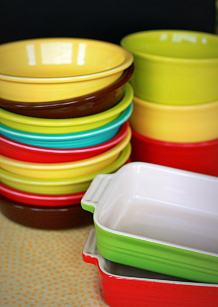 Use different-colored dishes to keep track of meatless vs. carnivore dishes