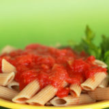 Magic Three-Ingredient Pasta Sauce with tomatoes, onion and butter