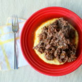 Coffee-Braised Pot Roast over Polenta