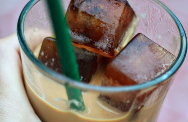 Coffee Ice Cubes - Pour your regular old leftover brewed coffee into ice cube trays and freeze, then replace the ice in your iced coffee with coffee cubes. No more watered-down iced coffee!