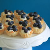No-Bake Blueberry Cheesecake Mini Tarts | Kitchen Treaty