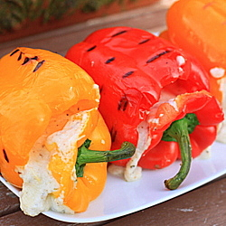Four-Cheese Stuffed Grilled Peppers