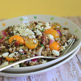 Israeli Couscous & Green Lentil Salad | Kitchen Treaty