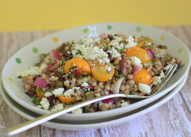 Israeli couscous green lentil salad kitchen treaty you sisterspd