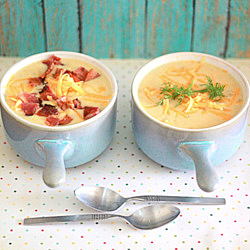 Cheddar Corn Chowder with Optional Bacon