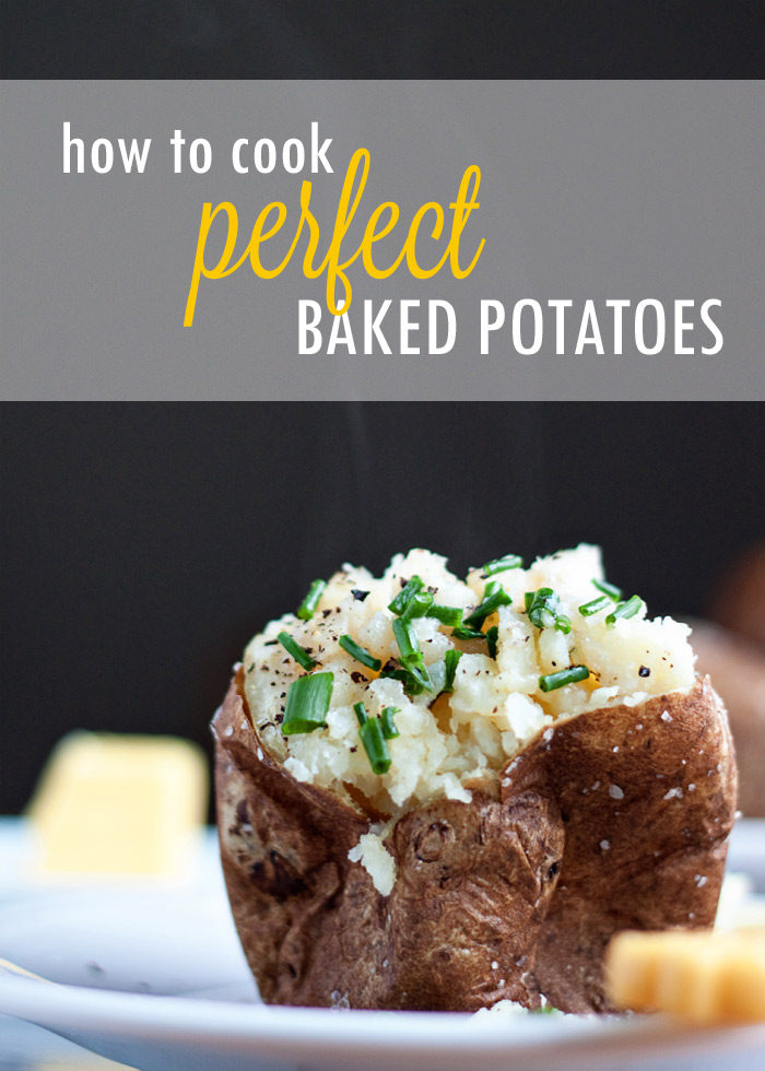 How to Cook Perfect Baked Potatoes in the Oven - Crispy on the outside, pillowy on the inside. Look at these key secrets for making it happen!