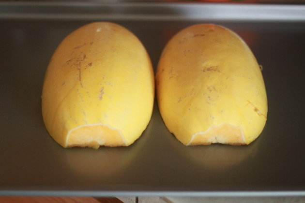How to Cook Spaghetti Squash Two Different Ways - in the Microwave or in the Oven