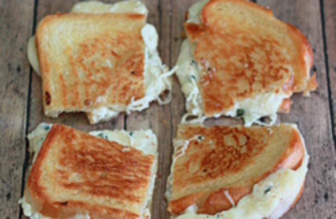 White Pizza Grilled Cheese | Kitchen Treaty