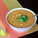 Slow Cooker Red Lentil, Chickpea, & Coconut Soup | Kitchen Treaty