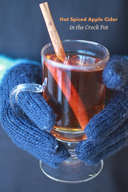 Slow Cooker Hot Spiced Apple Cider - With just four ingredients (okay, five if you spike it with your favorite rum) this warm-spiced Crock Pot mulled cider recipe couldn't be any easier to make.