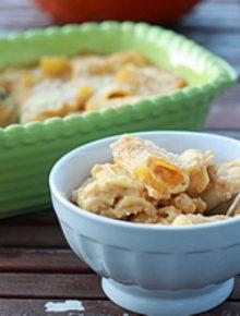 Creamy Pumpkin Baked Rigatoni | Kitchen Treaty