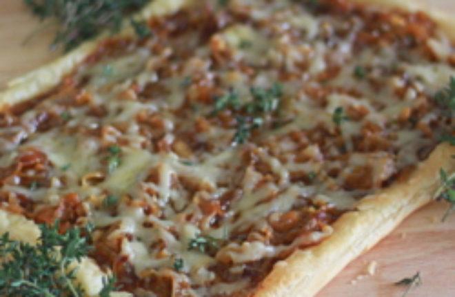 Caramelized Onion, Fig & Gruyere Tart | Kitchen Treaty