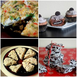 Archived! Leftover Veggie Frittata, Decadent Cookies & Cream Goodies, Cranberry Love & More