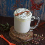 Crock Pot Pumpkin Spice White Hot Chocolate | Kitchen Treaty