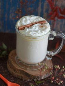 Crock Pot Pumpkin Spice White Hot Chocolate | Kitchen Treaty