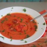 Roasted Red Pepper & Tomato Soup | Kitchen Treaty