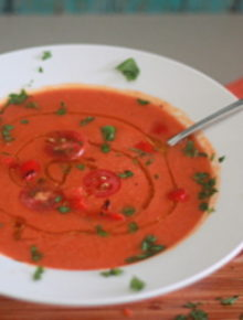 Roasted Red Pepper & Tomato Soup   Kitchen Treaty
