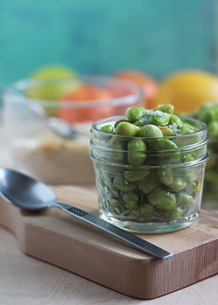 Edamame with citrus salt | Kitchen Treaty